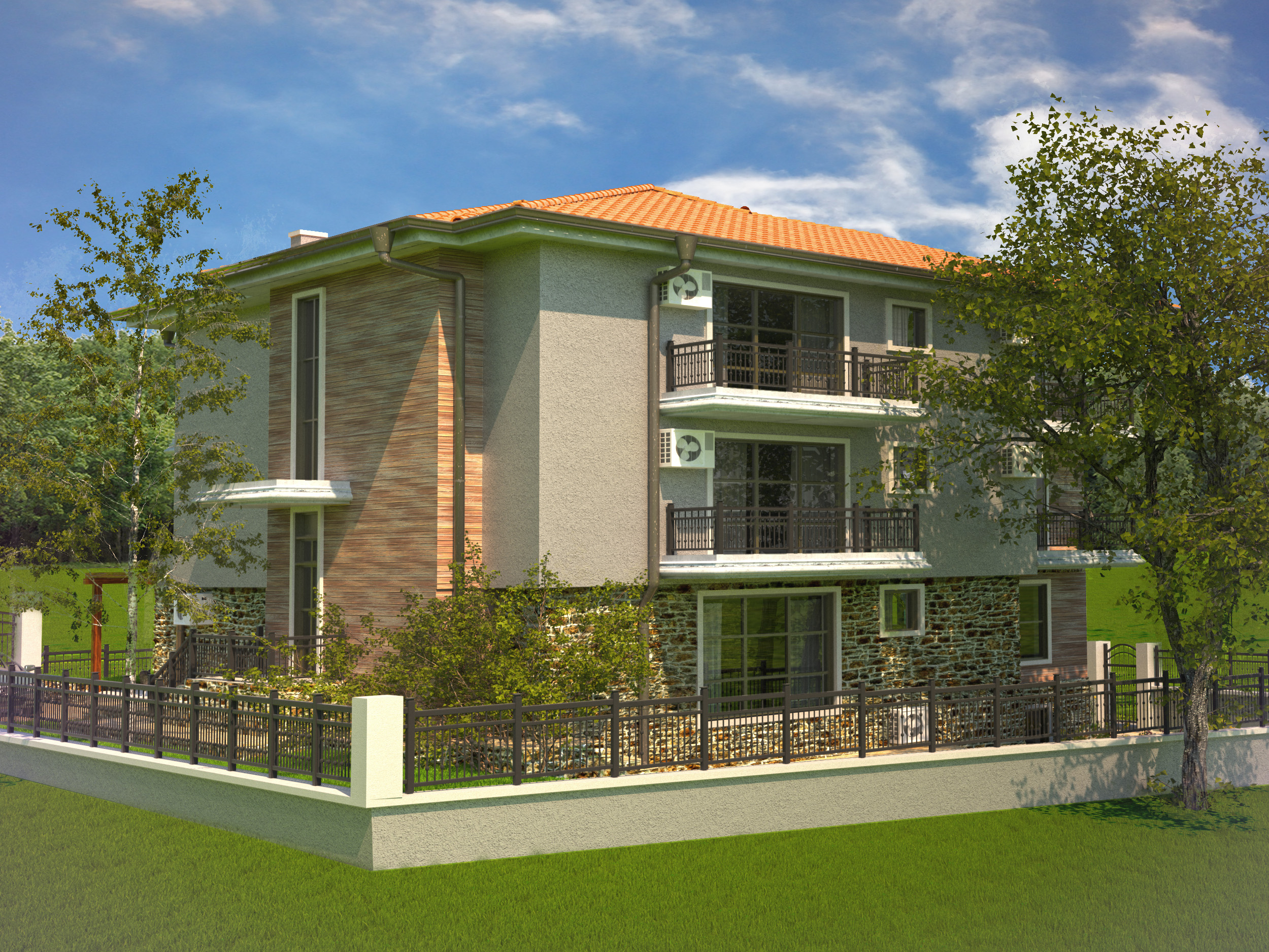 A house in 3d max vray 3.0 image
