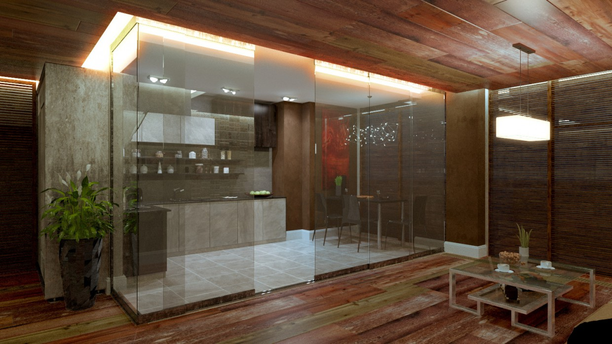 Glass  in  3d max   corona render  image