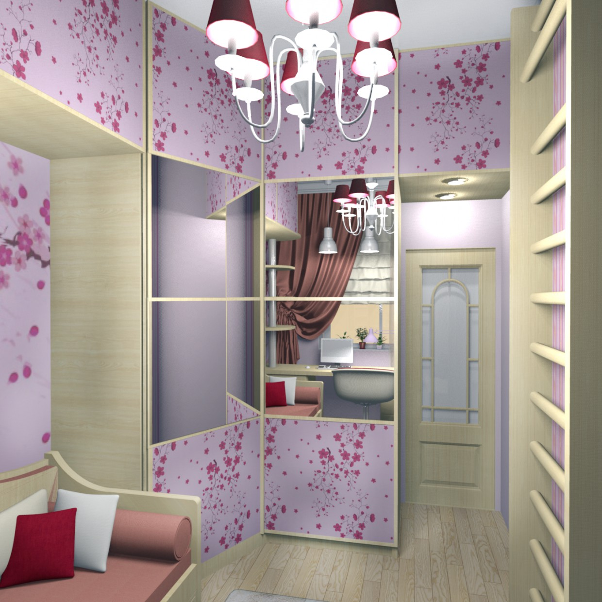 3d visualization of the project in the Children in lilac shades Other thing, render Other of Helena Che