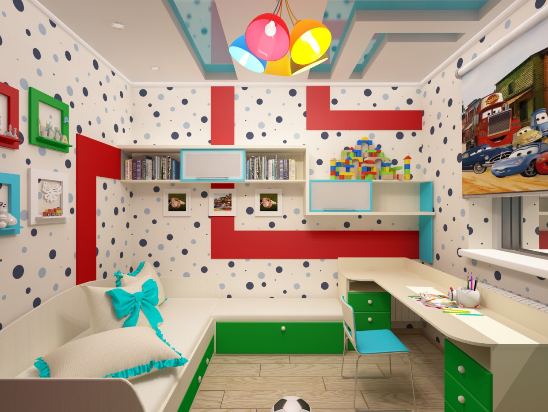 imagen de Infantil para un niño en 3d max vray