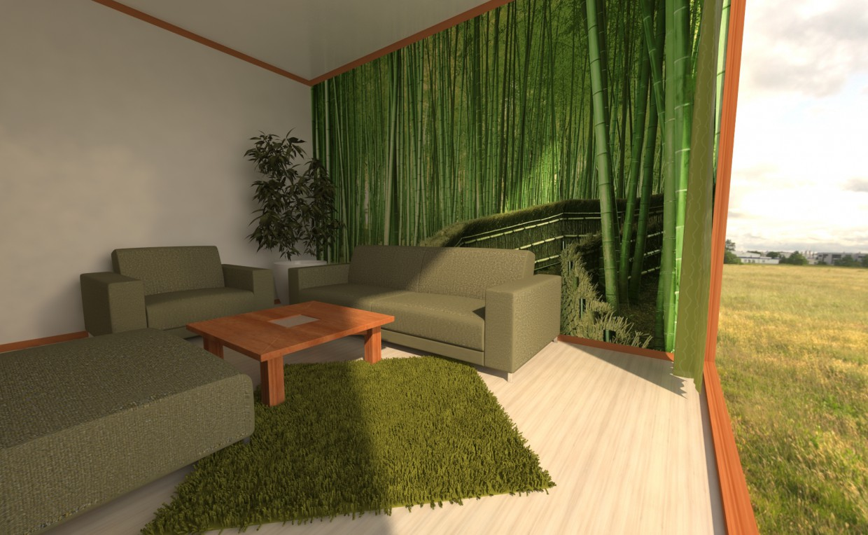 Cozy Green in 3d max vray image