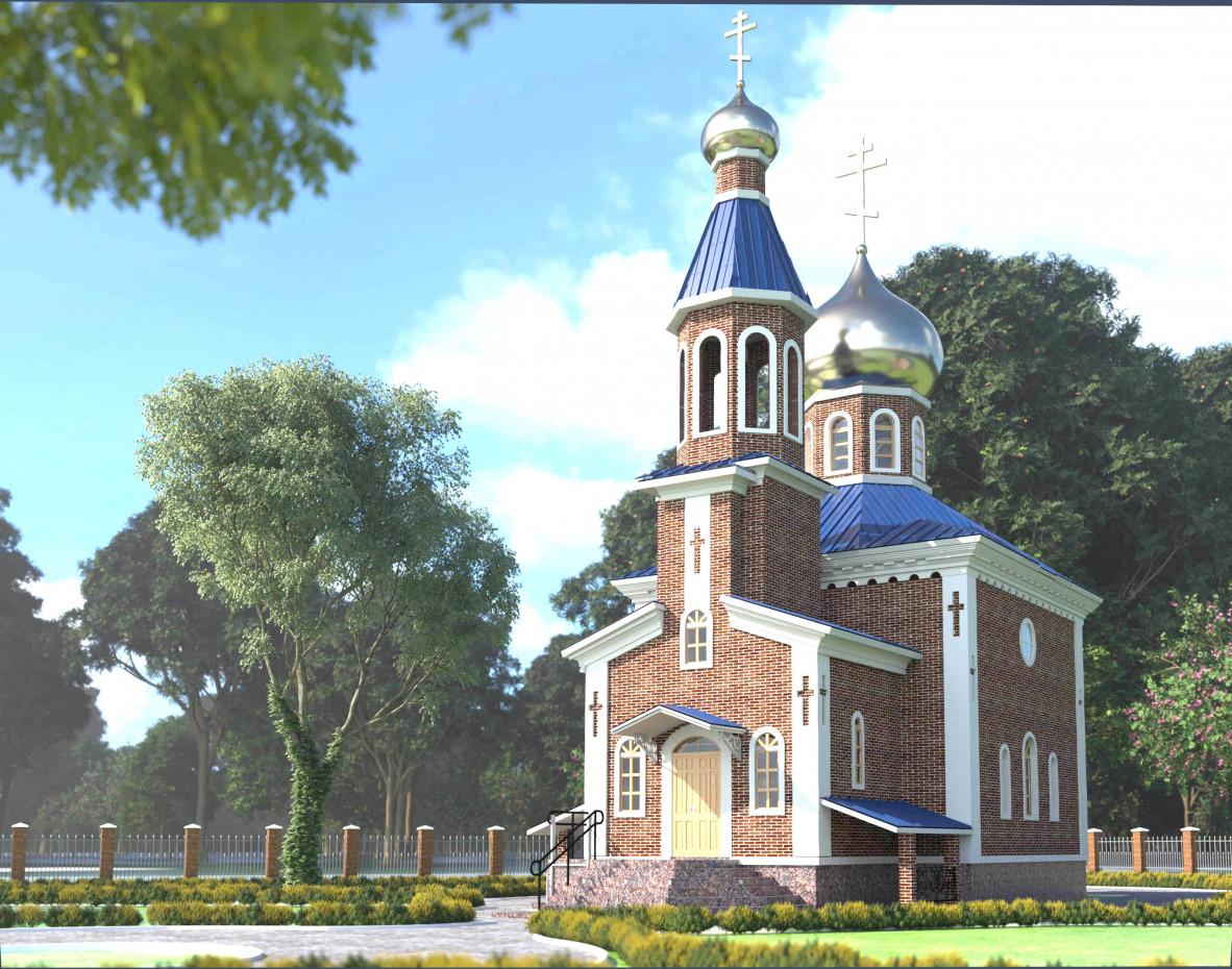 Chapel in Shirochanka in ArchiCAD corona render image