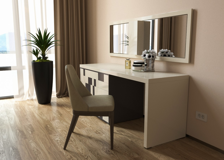 Візуал робочого і туалетного столику (частина) в 3d max corona render зображення