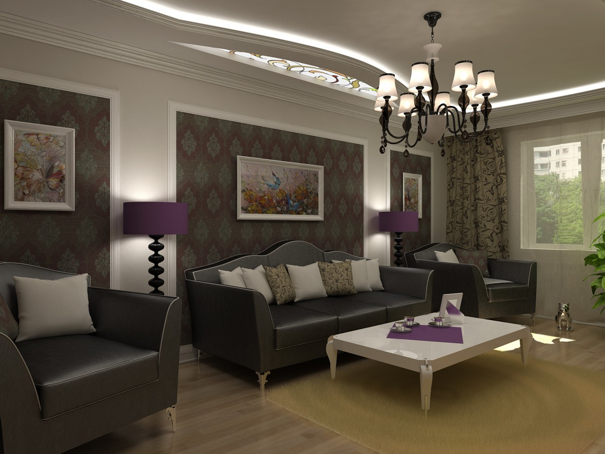 Living Option 2 in 3d max vray image