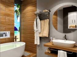 Interior design of the bathroom in the KievSKY residential complex in Chernigov