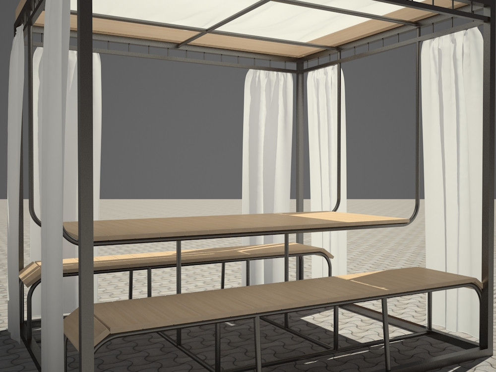 Alcove in 3d max vray 2.5 image