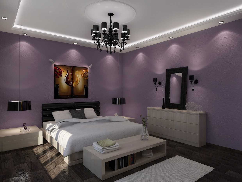 Schlafzimmer in 3d max vray Bild