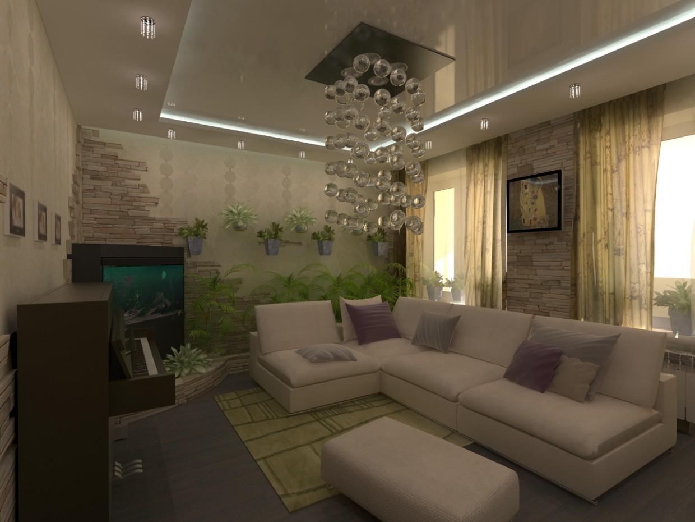 Зелёная комната 2 в 3d max vray изображение