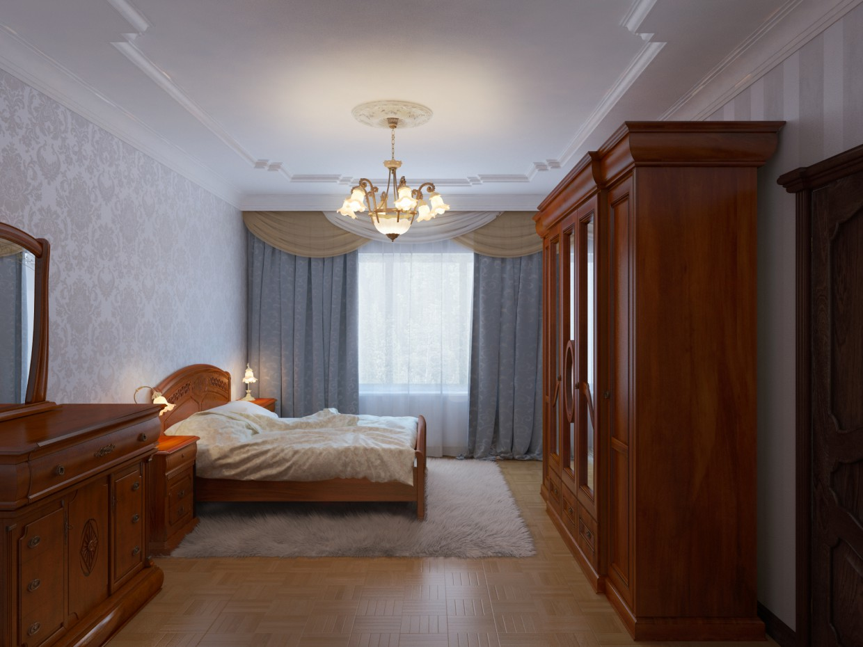 Classic Bedroom in 3d max vray image