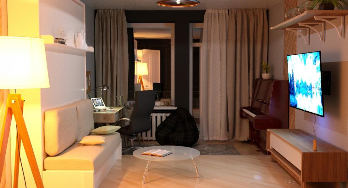Квартира в Челябінську в 3d max corona render зображення