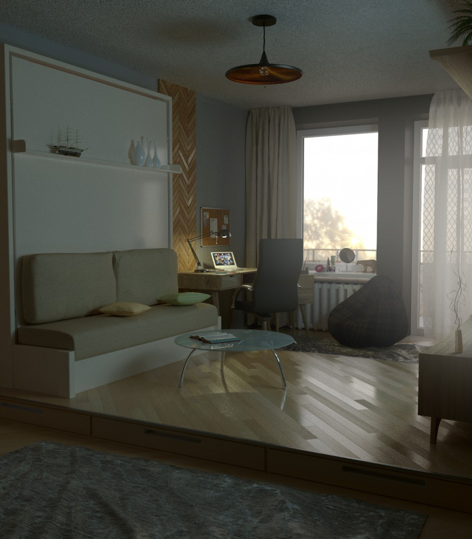 Apartment Chelyabinsk in 3d max corona render image