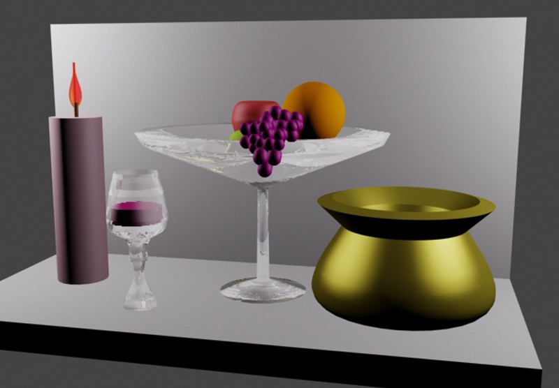 3d visualization of the project in the Still Life 3d max, render vray of Еленамедер
