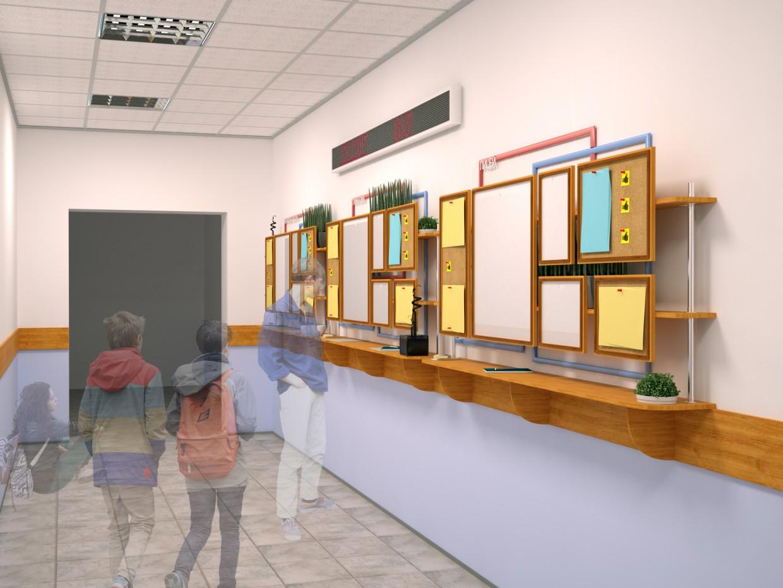 Школьная входная группа в 3d max vray изображение