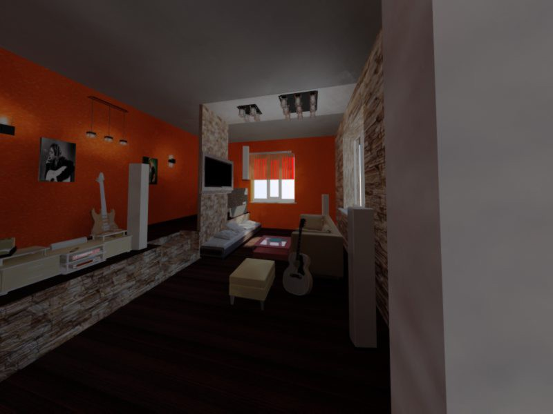 Квартира студіо в 3d max vray зображення