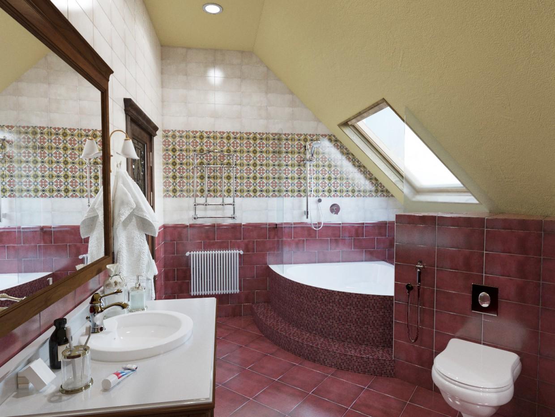 imagen de  Clásico - baño  en  3d max   corona render