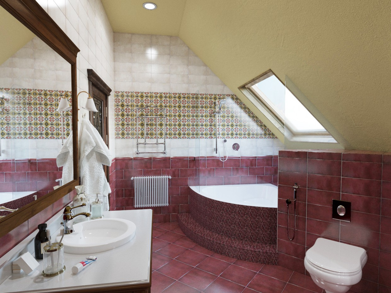 Classic - Bathroom in 3d max corona render image
