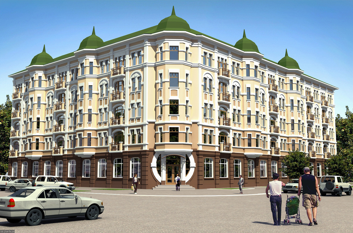 "3d visualization of the project in the Residential house ""a la Moderna"" in Chernigov 3d max, render vray 1.5 of OLEG"