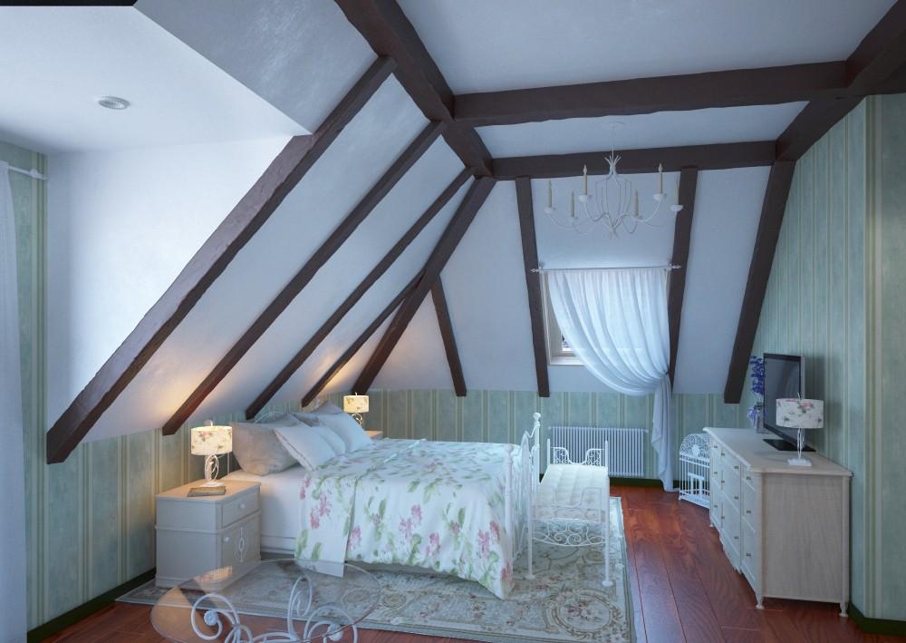 Класична спальня 2 Corona в 3d max corona render зображення