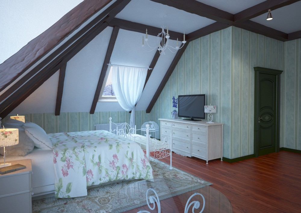 Classic Bedroom 2 Corona in 3d max corona render image