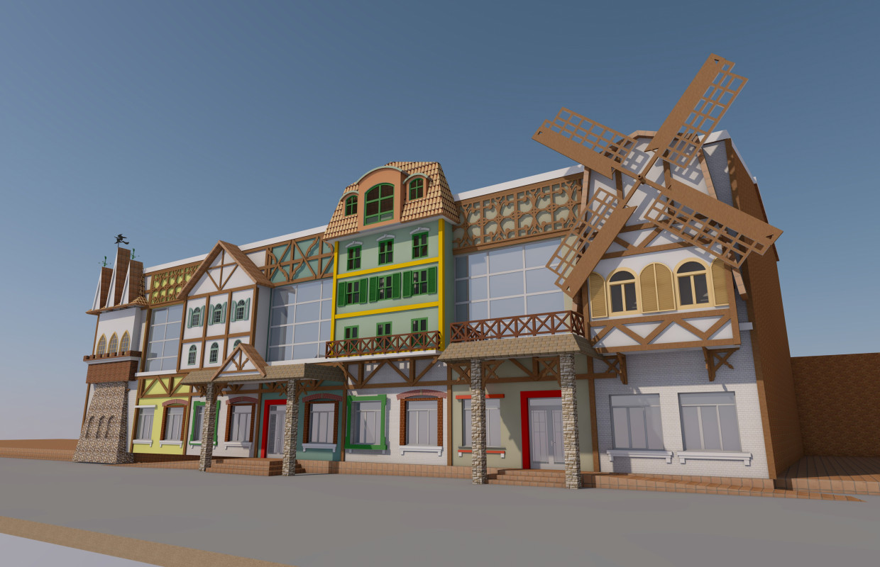 Children's entertainment complex. in ArchiCAD corona render image