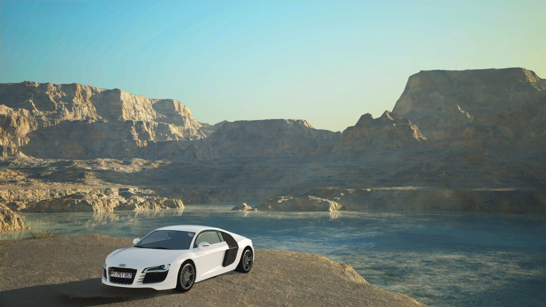 Audi R8 в Maya vray изображение