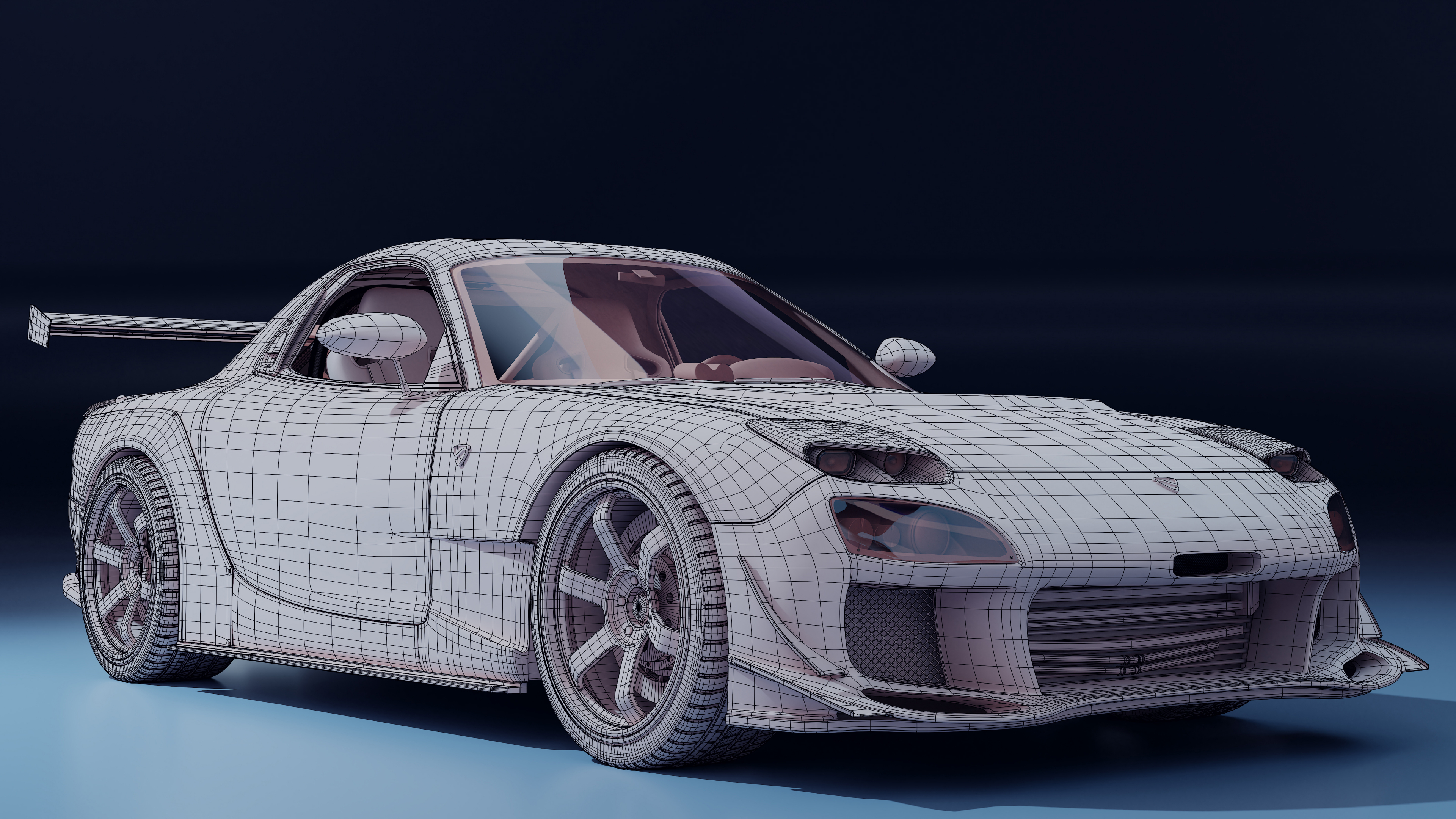 Mazda RX-7 in Blender cycles render image