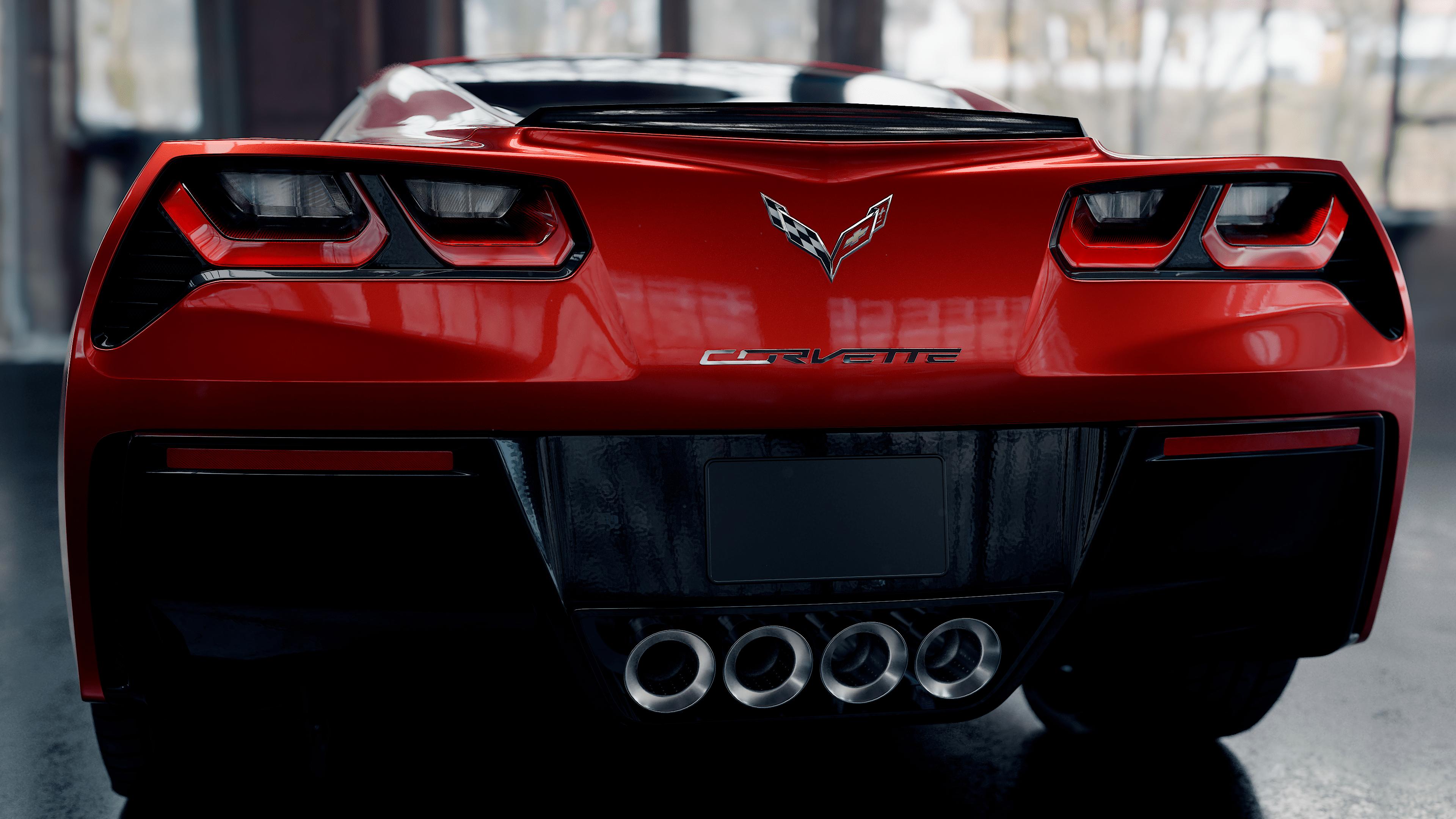 Chevrolet corvette in Blender cycles render image