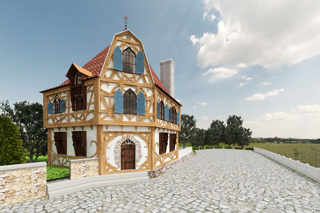 fairy cottage in 3d max vray 3.0 image