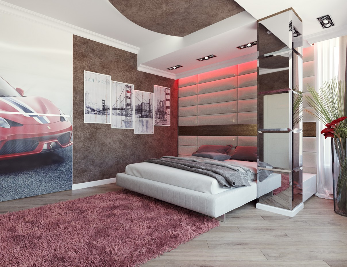 Children's room for a teenager in 3d max corona render image