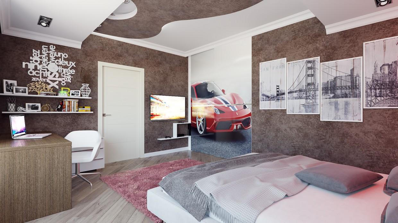 imagen de Habitación de los niños para un adolescente en 3d max corona render
