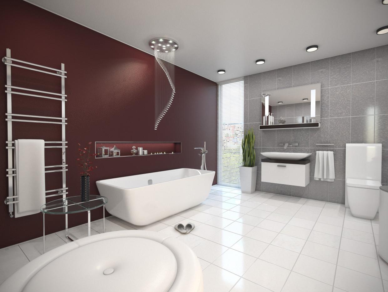 Visualizaci n en 3d cuarto de ba o en estilo minimalismo - Banos en 3d ...