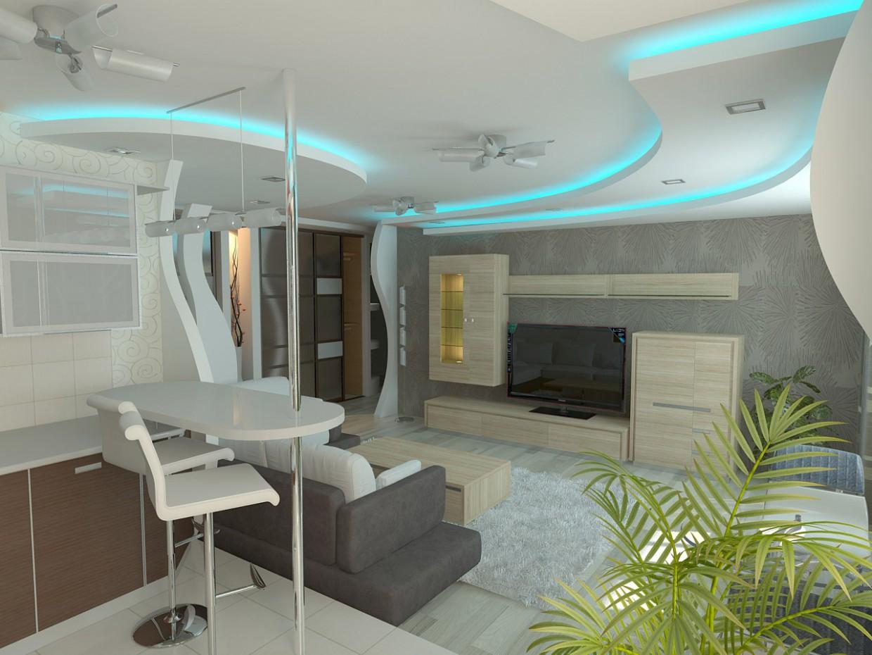 imagen de Sala de estar con medallones en 3d max vray