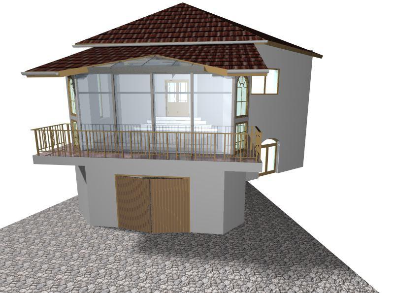 Проект даху над терасою в Другое Other изображение