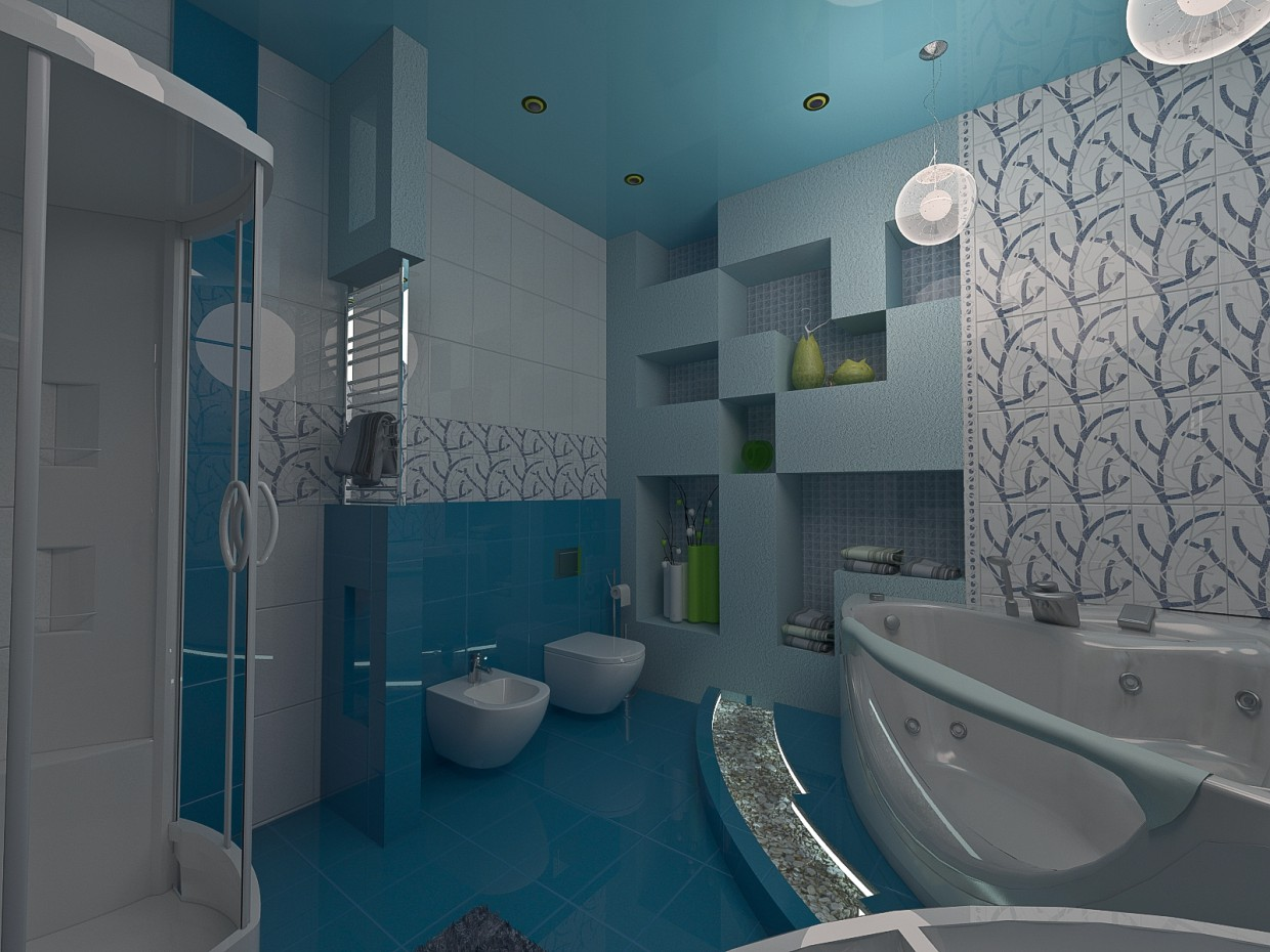 3d visualization of the project in the Lavatory 3d max, render vray of grin-81