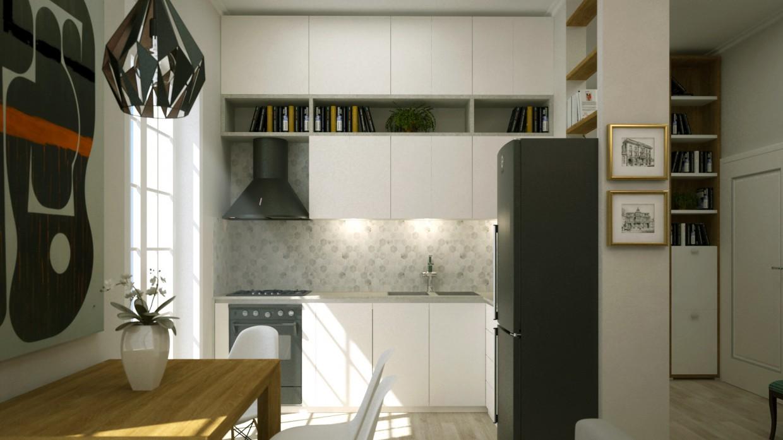 3d визуализация проекта Кухня в 3d max, рендер vray от endri