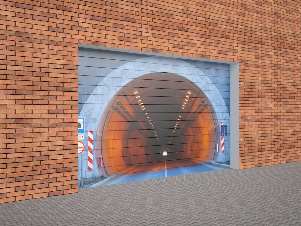 Sectional garage doors in 3d max vray 2.5 image