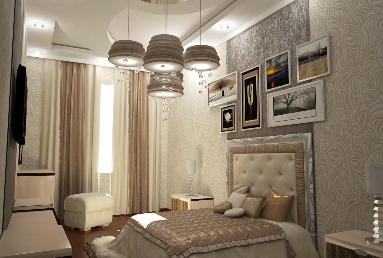 visualización 3D del proyecto en el dormitorio 3d max render vray Мehman