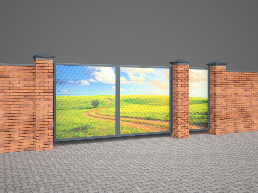 3d visualization of the project in the Swing Gates 3d max, render vray 2.5 of inna_s