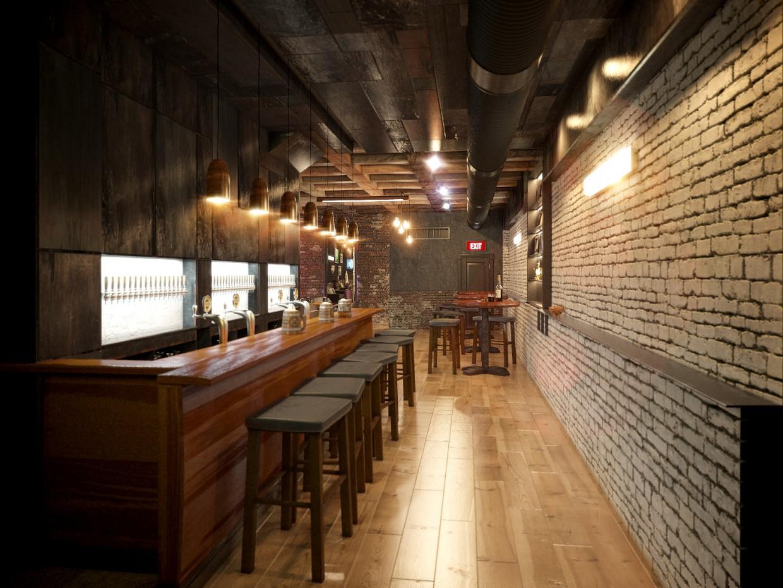 Bar in 3d max corona render image