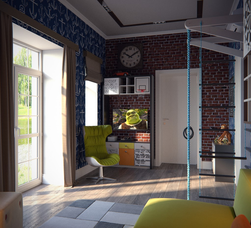 Children room in 3d max corona render image