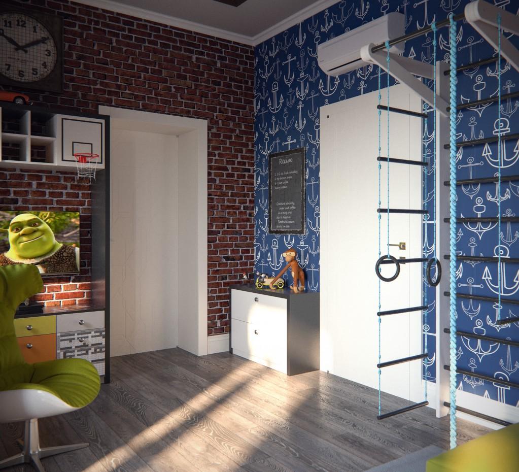 Children room in 3d max corona render image