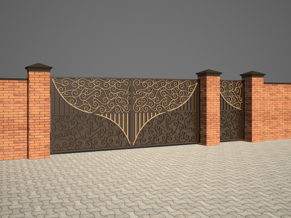 Swing Gates in 3d max vray 2.5 image