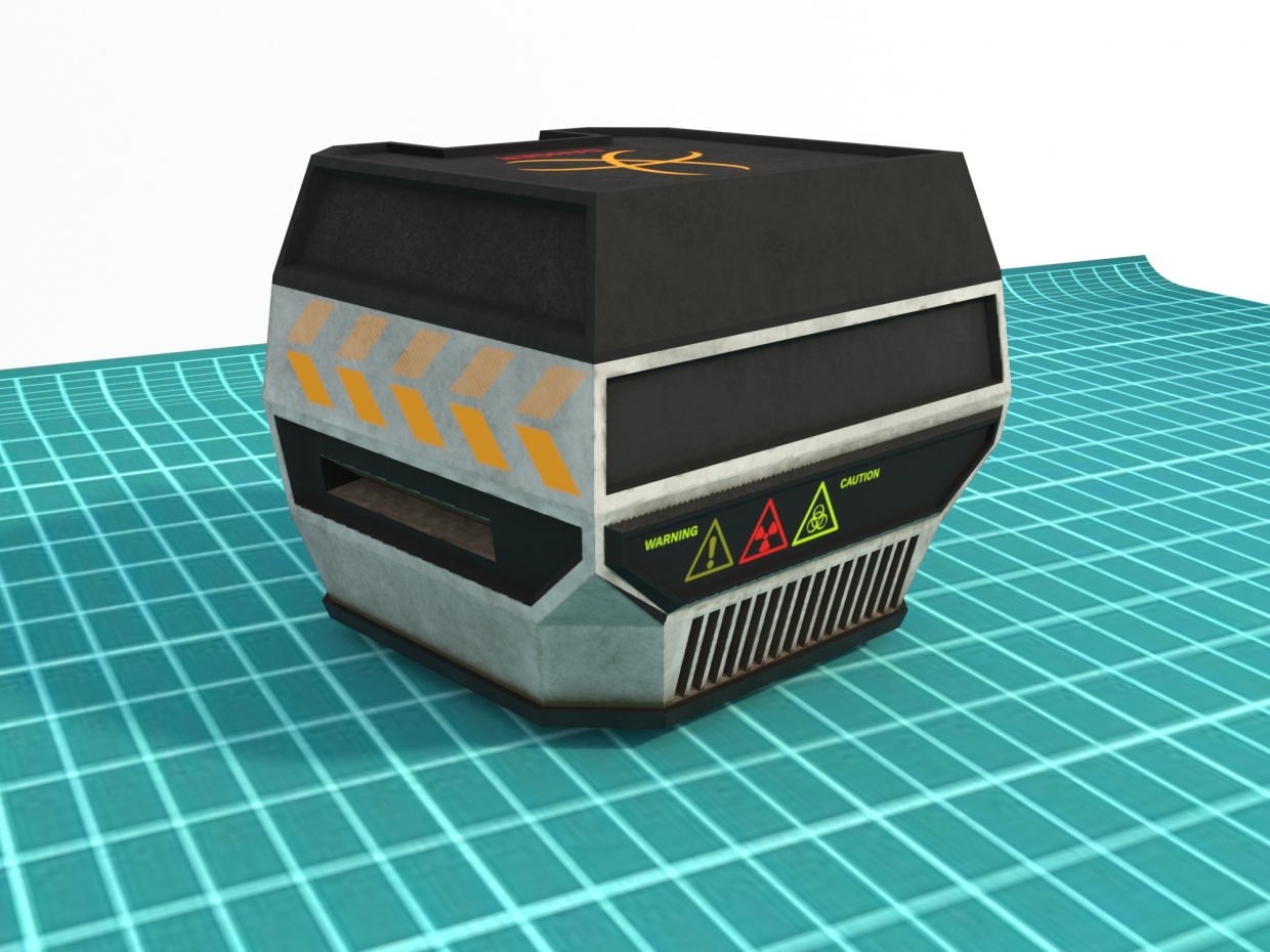 Sci-Fi Box 02 in Blender corona render image