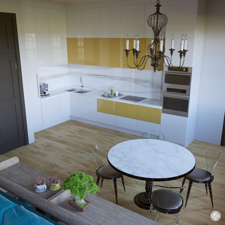 Візуалізація квартири в 3d max corona render зображення