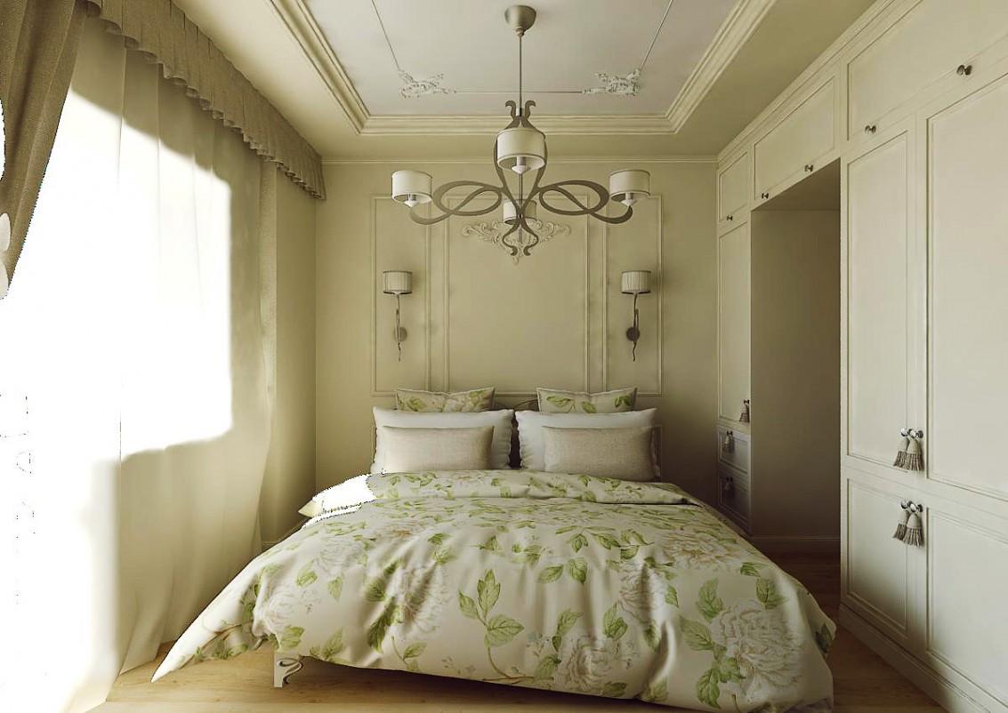 Спальня європейський стиль в 3d max vray зображення