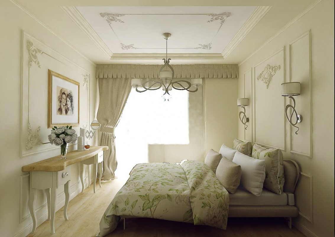 Bedroom European style in 3d max vray image
