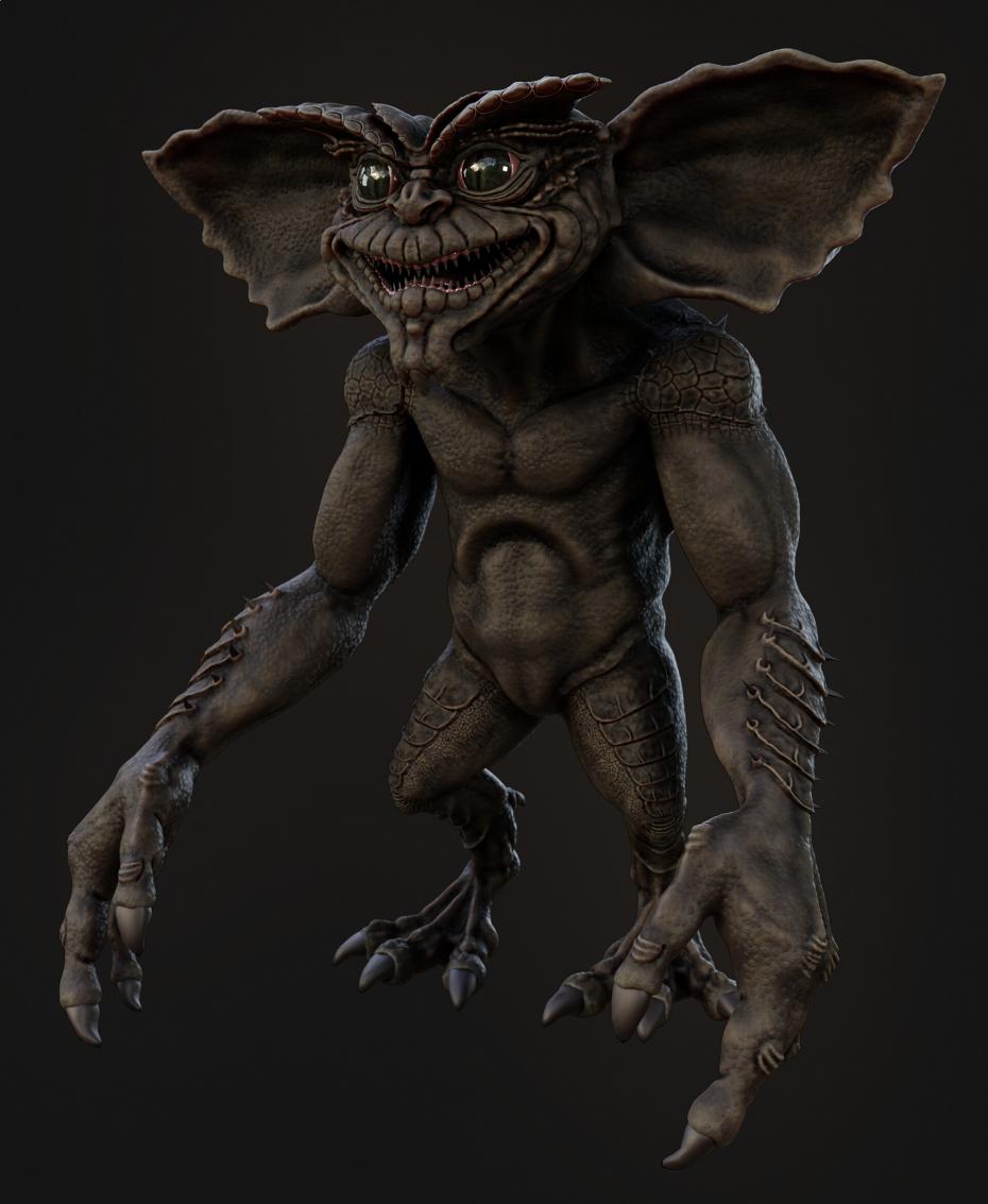 gremlin in Blender cycles render image