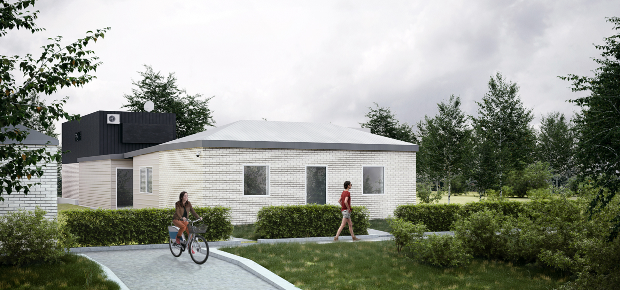 Visualization of a private house in 3d max corona render image