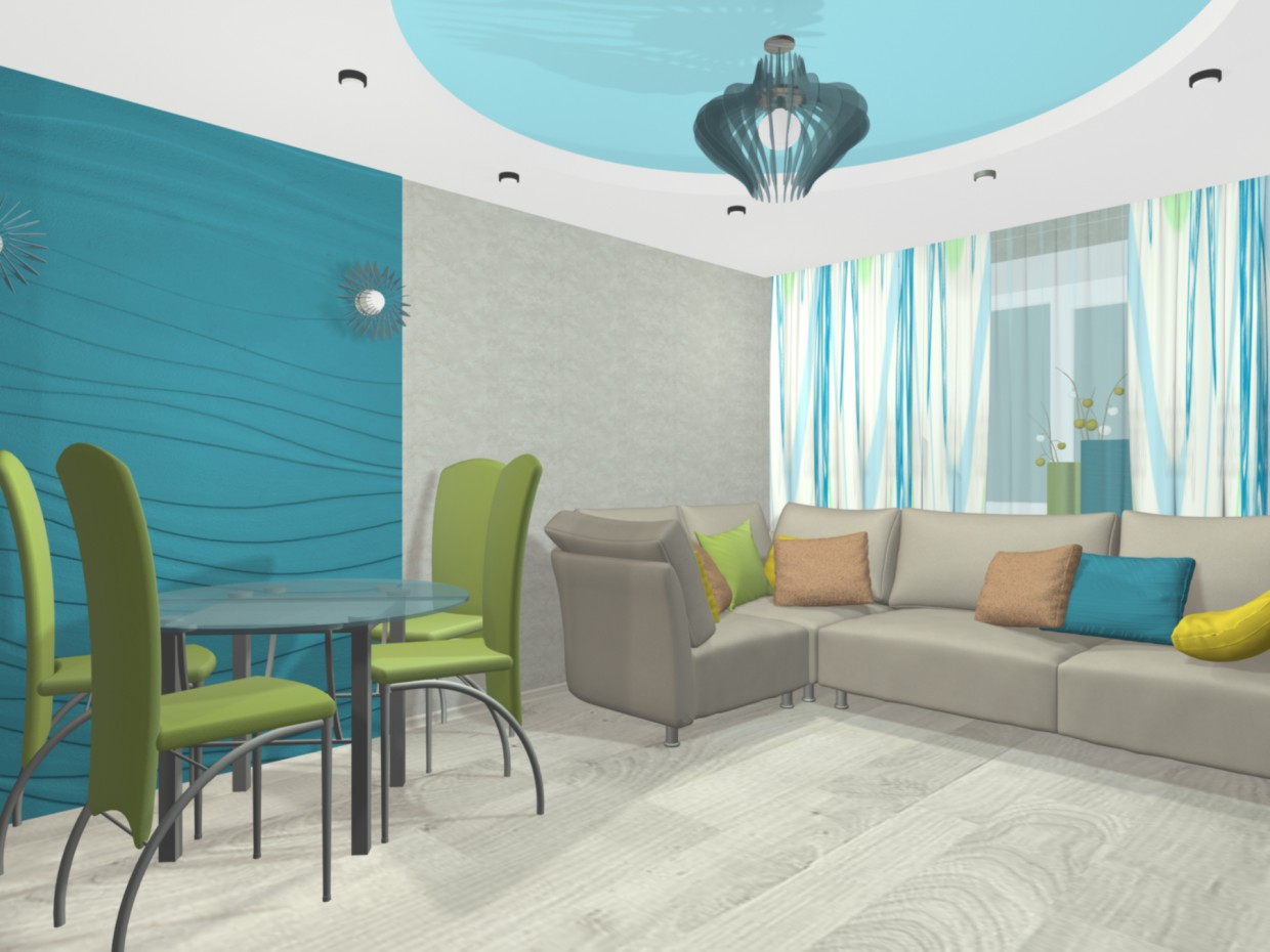 interior living room in 3d max mental ray image