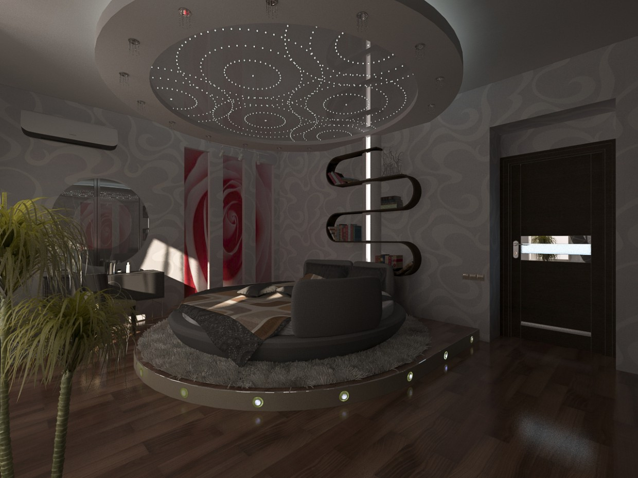 3d visualization of the project in the spalenki 3d max, render vray of grin-81